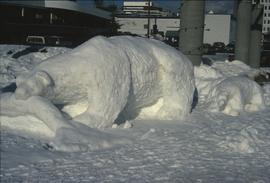 Bear Snow Sculpture