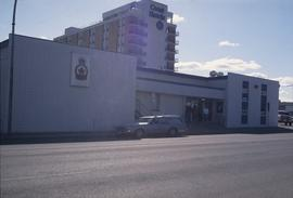 Royal Canadian Legion Building on 7th Ave and the Inn of the North Coast Hotel