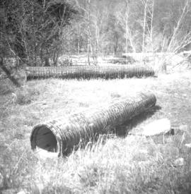 Wooden culverts near Merritt and Glenwalker Ranch