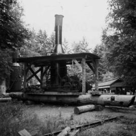 Early donkey engine at the Cowichan Valley Forest Museum