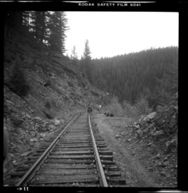 Velocipede on CPR Kettle Valley Railway in Myra Canyon