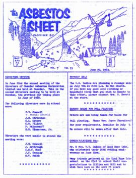 The Asbestos Sheet June 1963