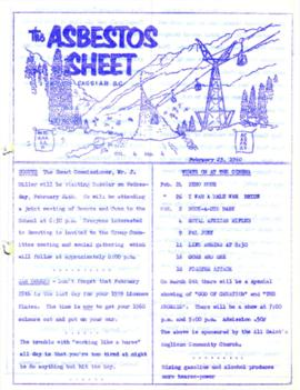 The Asbestos Sheet Feb. 1960