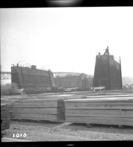Section of floating dock in Vancouver Harbour