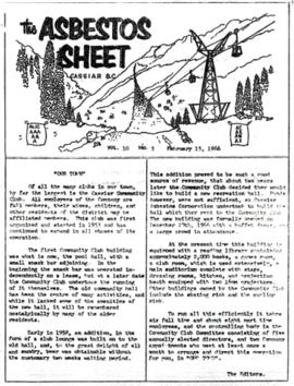 The Asbestos Sheet Feb. 1966