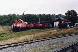 Alberni Pacific Railway locomotive shed