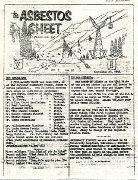 The Asbestos Sheet 23 Sept. 1958