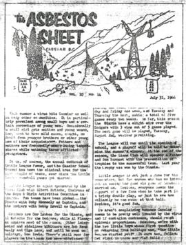 The Asbestos Sheet July 1966