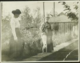 Unknown Women & Dog