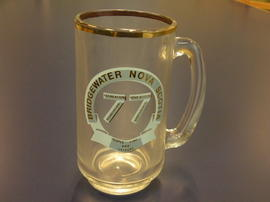 Glass mug from Recreation Association of Nova Scotia Conference