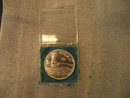 Aluminum Souvenir Coin from Kitimat, British Columbia