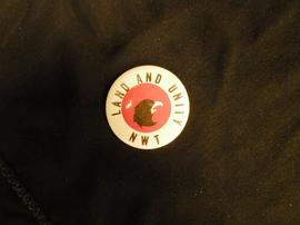 Land and Unity Northwest Territories button badge