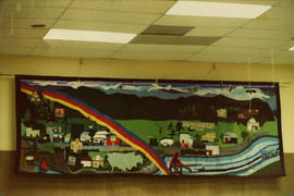 "Queen Charlotte City community hall tapestry ""Community Panorama"""