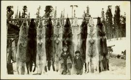 Tlingit Children with Wolf Pelts