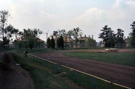 Gravel track at a field in Germany