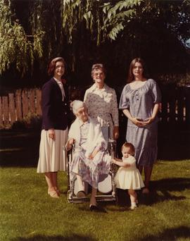 Five generations of women in Iona Campagnolo's family