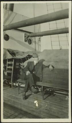 H.F. Glassey aboard Ship