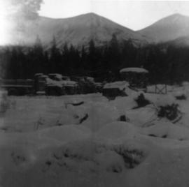 Trucks and Loader at Camp