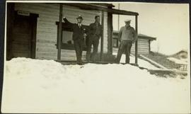 H.F. Glassey at Nesutlane Trading Post, Teslin Lake, YT