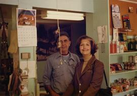 Iona Campagnolo and Stan Newcombe in a Port Clements store