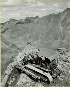 Two Dozers on Cliff, Close View