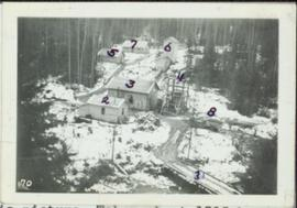 Bird's eye view of Quesnel Quartz Mine Camp