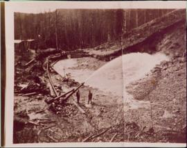 Placer mining in Hixon, BC
