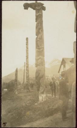 Totem poles at Kingcome Village