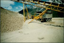 Conveyor & Dump Truck at Gravel Pit