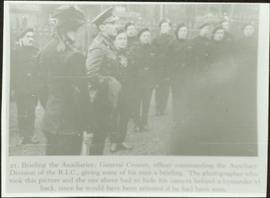 General Crozier briefing members of the Auxiliary Division of the Royal Irish Constabulary