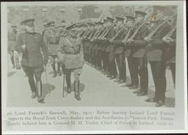 Lord French's farewell inspection of the Royal Irish Constabulary
