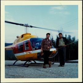 Helicopter Trip - Two Men with Trans North Chopper