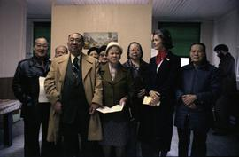 Iona Campagnolo poses for a group photo with Prince Rupert chinese senior citizens
