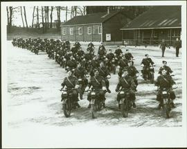 No. 1 Canadian Provost Corps riding in formation