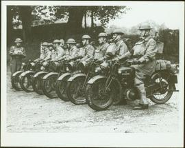 No. 1 Canadian Provost Corps in motorcycle formation
