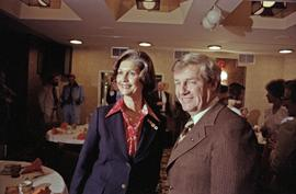 Iona Campagnolo and Premier Peter Lougheed at the Crest Hotel in Prince Rupert