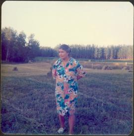 Mary John Standing in Field