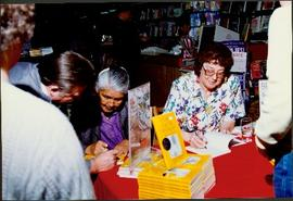 Bridget Moran & Mary John Autographing copies of 'Stoney Creek Woman'