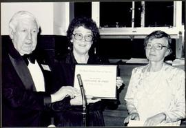 Bridget Moran Accepting Certificate of Merit