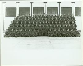 Group photo of the No. 1 Canadian Provost Corps at C.F.B. Rockcliffe