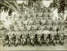 Group photo of uniformed officers in Kingston, Jamaica