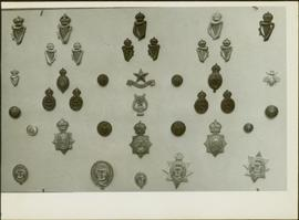 Overview of Royal Irish Constabulary badges from the James Joseph Claxton Collection