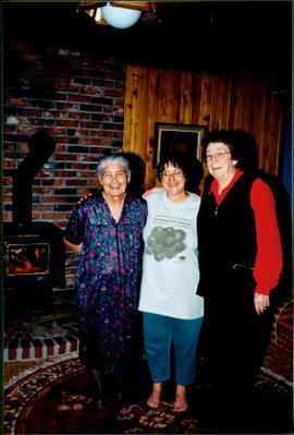Mary John, Bridget Moran, and Unknown Woman in John Residence