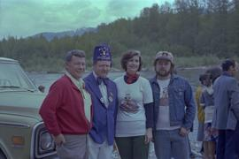Iona Campagnolo, Kitimat Mayor George Thom, past Exalted Ruler of the Kitimat Elks, and man at Ki...