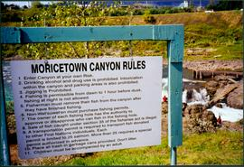 Sign Featuring Moricetown Canyon Rules