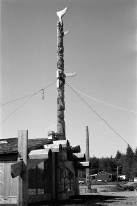 Totem pole at Skidegate museum