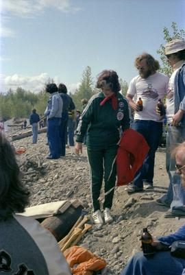 Iona Campagnolo talks with Kitimat constituents at Kitimat Delta King Days raft race event
