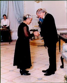 Mary John Receiving the Order of Canada