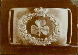 Closeup of an Royal Irish Constabulary buckle clasp