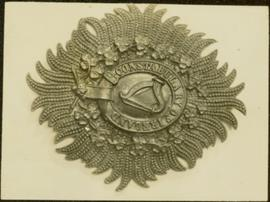 Closeup of an Royal Irish Constabulary badge